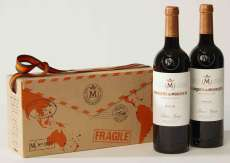 Raudonas vynas 2 Marqués de Murrieta  en caja de cartón