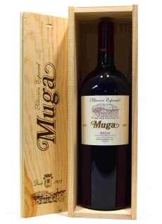 Raudonas vynas Muga  Magnum en caja de madera