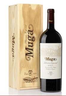 Raudonas vynas Muga  Selección Especial Magnum en caja de madera