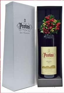 Raudonas vynas Protos  Magnum en caja de cartón