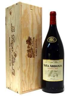 Raudonas vynas Viña Ardanza  en caja de madera (Magnum)