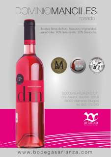 Rožinis vynas Dominio de Manciles, Rosado
